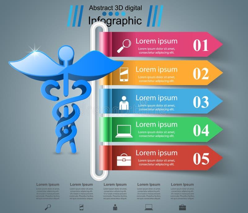 Абстрактная 3D цифровая иллюстрация Infographic включенная икона сердца архива 8 eps бесплатная иллюстрация