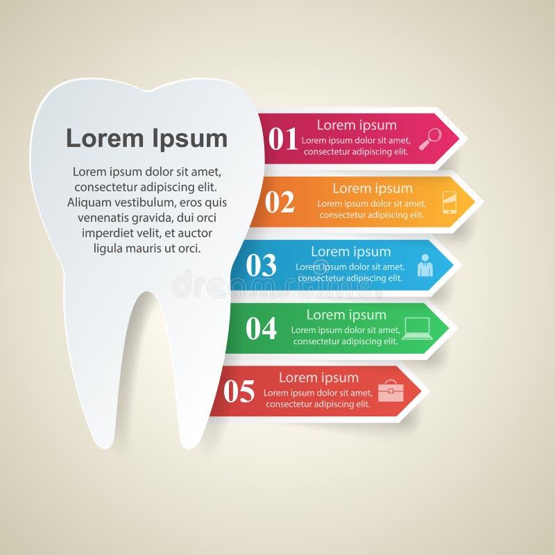 Абстрактная 3D цифровая иллюстрация Infographic Значок зуба бесплатная иллюстрация