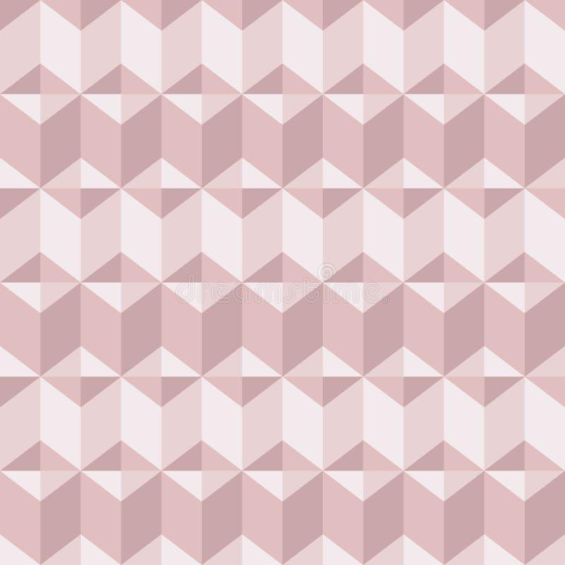 Абстрактная geomeric предпосылка внутри краснеет розовые цвета Тысячелетнее золото розы пинка, кристаллическая текстура бесплатная иллюстрация