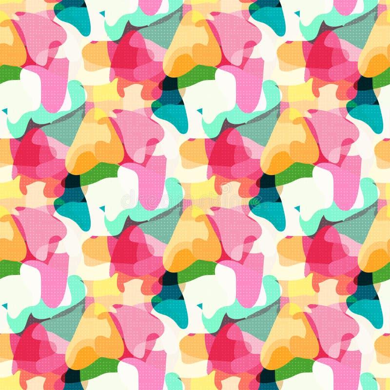 Абстрактная girlish предпосылка Геометрическая безшовная картина для девушек и мальчиков иллюстрация вектора