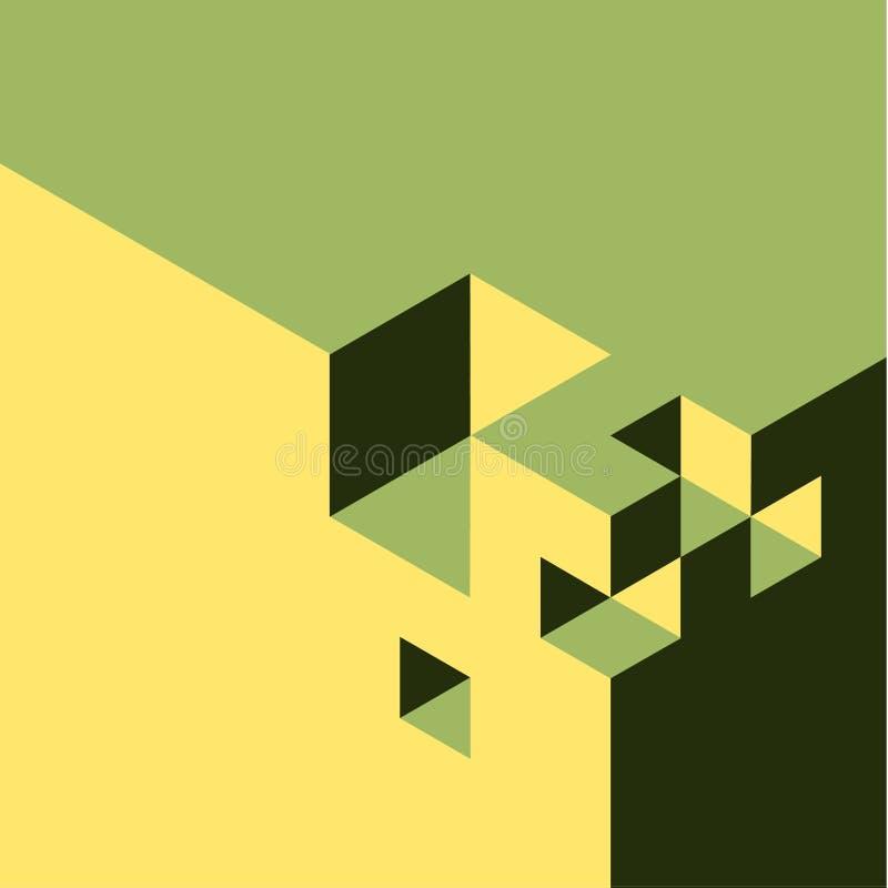 Абстрактная isometry предпосылка бесплатная иллюстрация