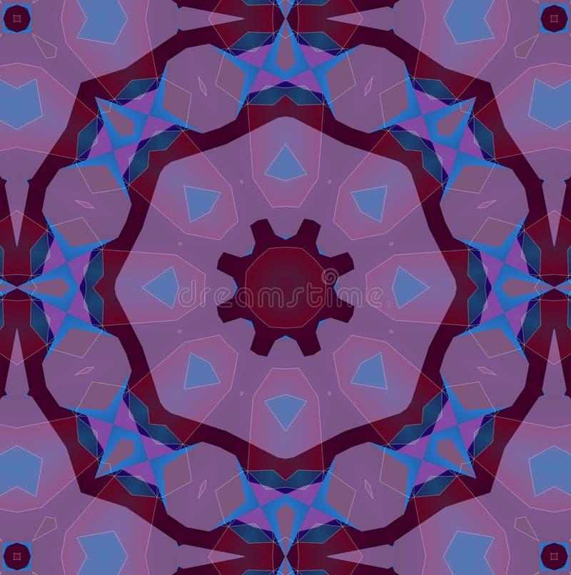 Абстрактная kaleidoscopic фиолетовая текстура иллюстрация штока
