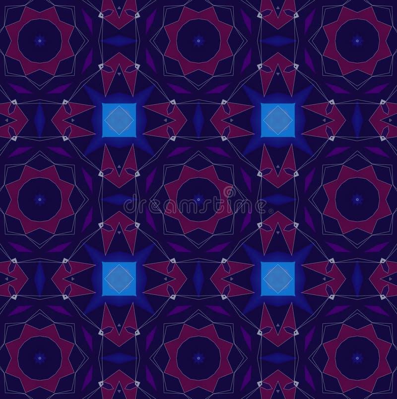 Абстрактная kaleidoscopic фиолетовая текстура бесплатная иллюстрация