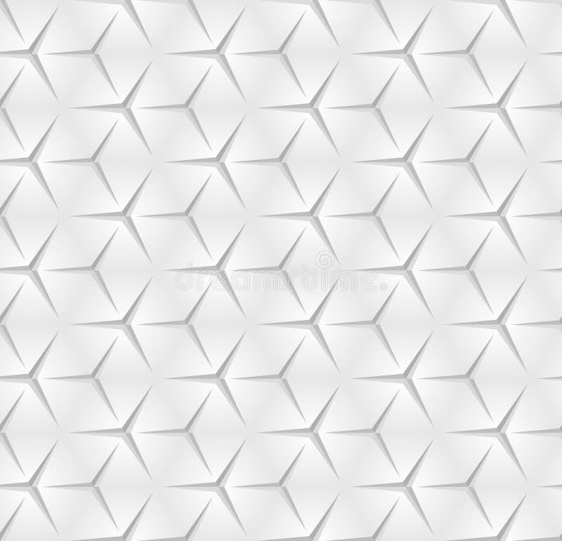 Абстрактная monochrome безшовная картина Вектор геометрическое Backgroun иллюстрация штока
