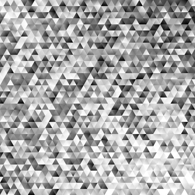 Абстрактная monochrome регулярн предпосылка мозаики плитки треугольника - современный дизайн вектора полигона градиента иллюстрация вектора