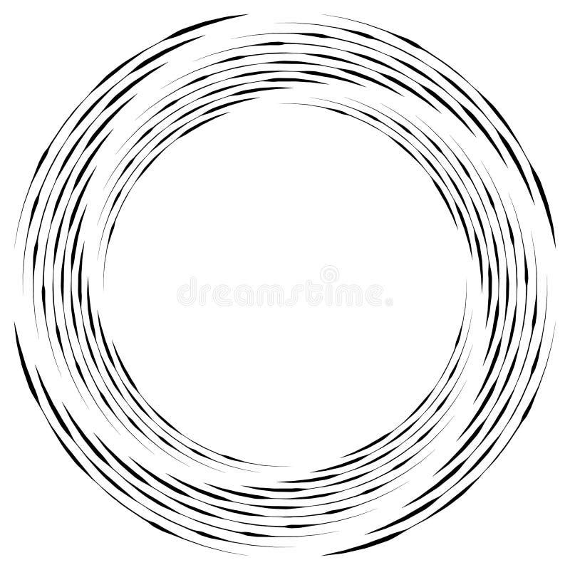 Download Абстрактная Monochrome спираль, вортекс с радиальным, излучая круг Иллюстрация вектора - иллюстрации насчитывающей черный, гирация: 81814599