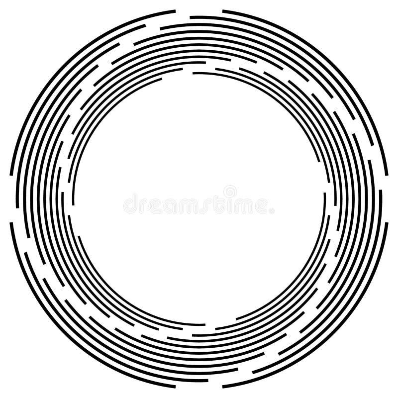 Download Абстрактная Monochrome спираль, вортекс с радиальным, излучая круг Иллюстрация вектора - иллюстрации насчитывающей вихрь, скачками: 81814603