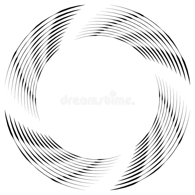Download Абстрактная Monochrome спираль, вортекс с радиальным, излучая круг Иллюстрация вектора - иллюстрации насчитывающей круги, вихрь: 81814608