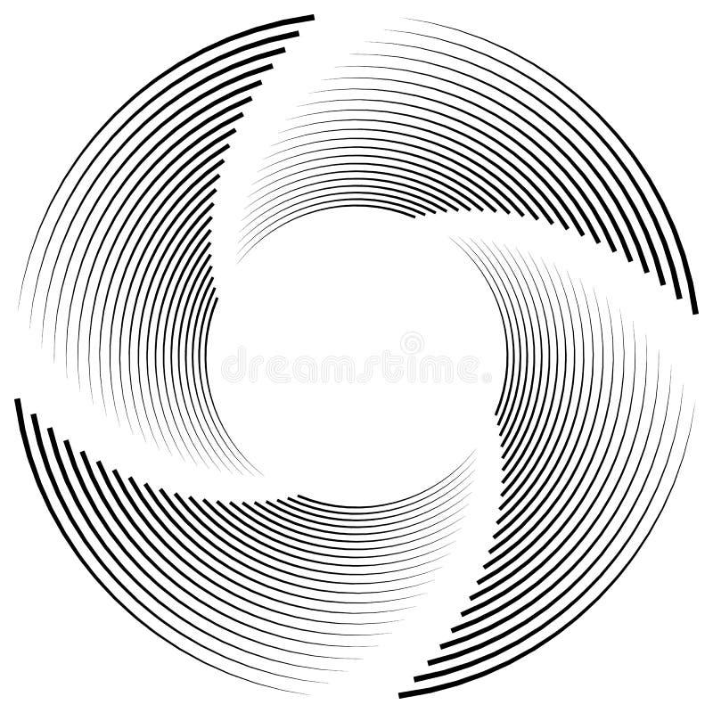 Download Абстрактная Monochrome спираль, вортекс с радиальным, излучая круг Иллюстрация вектора - иллюстрации насчитывающей хитроумного, круг: 81814619