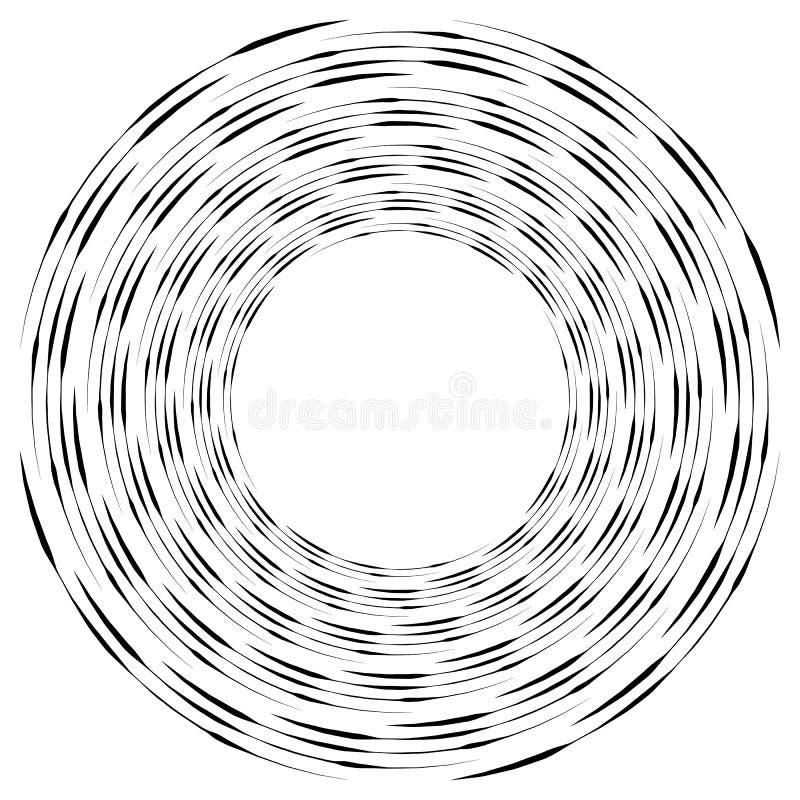 Download Абстрактная Monochrome спираль, вортекс с радиальным, излучая круг Иллюстрация вектора - иллюстрации насчитывающей вращать, скачками: 81814638