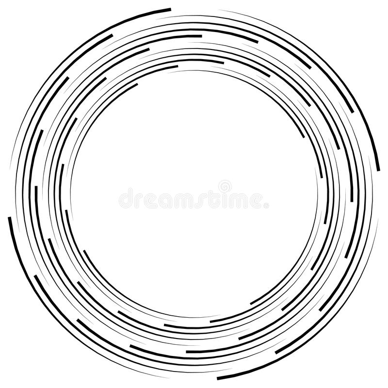 Download Абстрактная Monochrome спираль, вортекс с радиальным, излучая круг Иллюстрация вектора - иллюстрации насчитывающей радиально, свободно: 81814652
