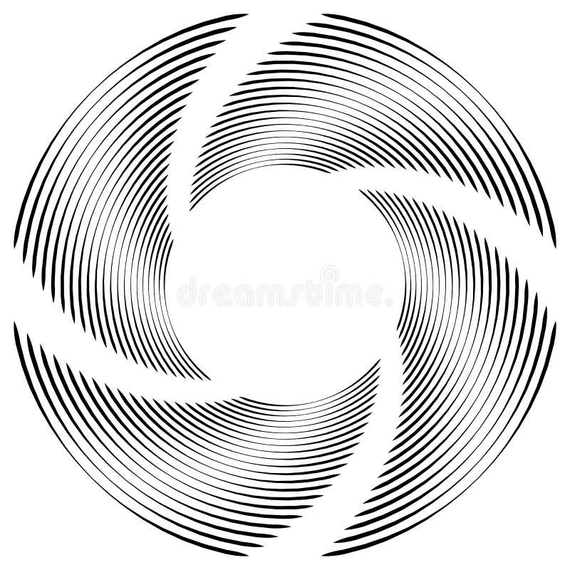 Download Абстрактная Monochrome спираль, вортекс с радиальным, излучая круг Иллюстрация вектора - иллюстрации насчитывающей хитроумного, крен: 81814655