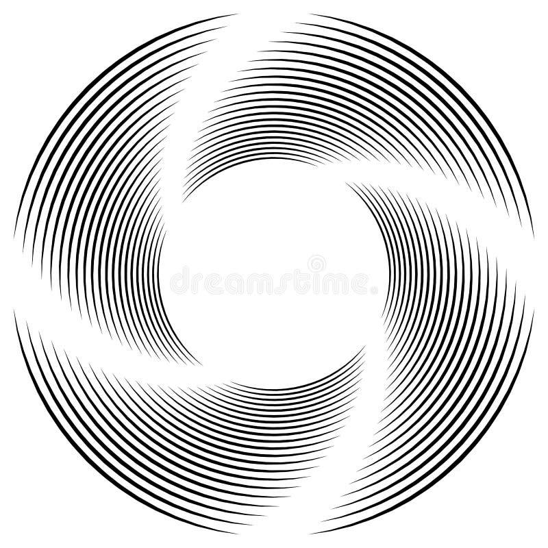 Download Абстрактная Monochrome спираль, вортекс с радиальным, излучая круг Иллюстрация вектора - иллюстрации насчитывающей свободно, иллюстрация: 81814657