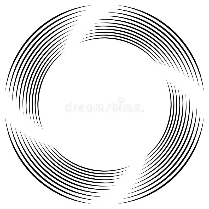 Download Абстрактная Monochrome спираль, вортекс с радиальным, излучая круг Иллюстрация вектора - иллюстрации насчитывающей вихрь, излучать: 81814674