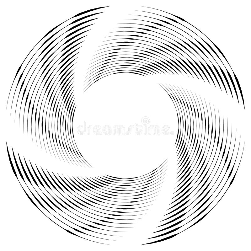 Download Абстрактная Monochrome спираль, вортекс с радиальным, излучая круг Иллюстрация вектора - иллюстрации насчитывающей влияние, конспектов: 81814685