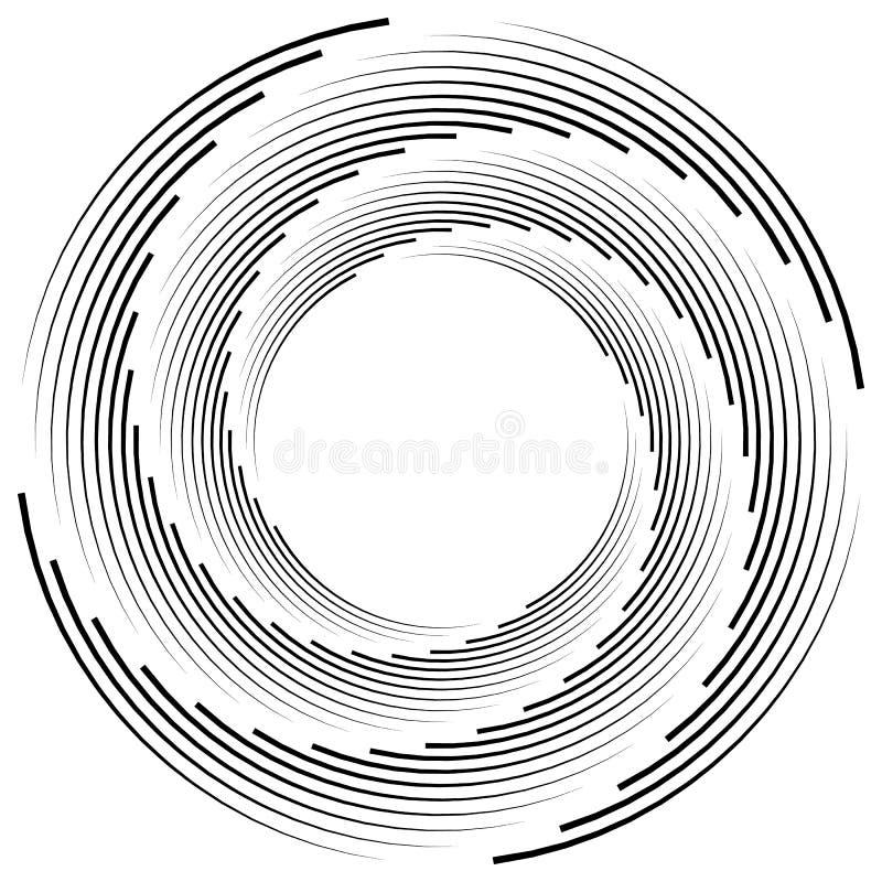 Download Абстрактная Monochrome спираль, вортекс с радиальным, излучая круг Иллюстрация вектора - иллюстрации насчитывающей helix, скачками: 81814692