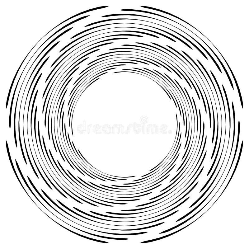 Download Абстрактная Monochrome спираль, вортекс с радиальным, излучая круг Иллюстрация вектора - иллюстрации насчитывающей monochrome, несимметричной: 81814706