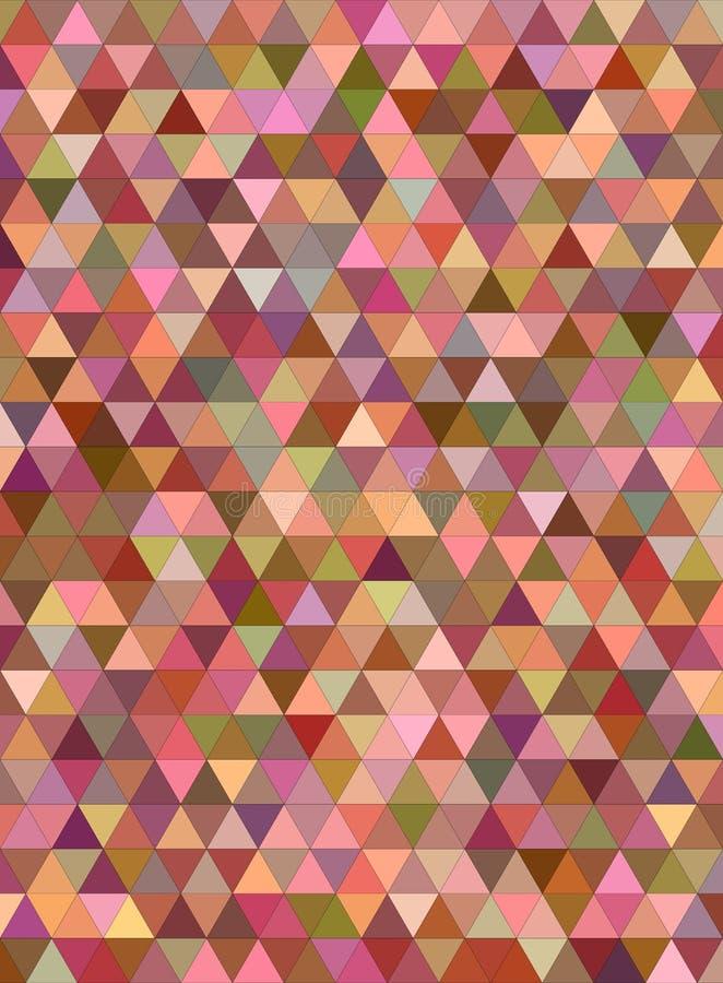 Абстрактная multicolor предпосылка мозаики треугольника иллюстрация вектора