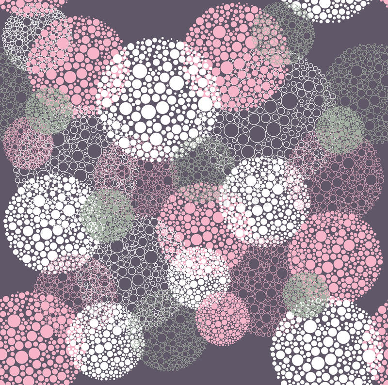 Абстрактное безшовное многоточие польки объезжает картину иллюстрация вектора