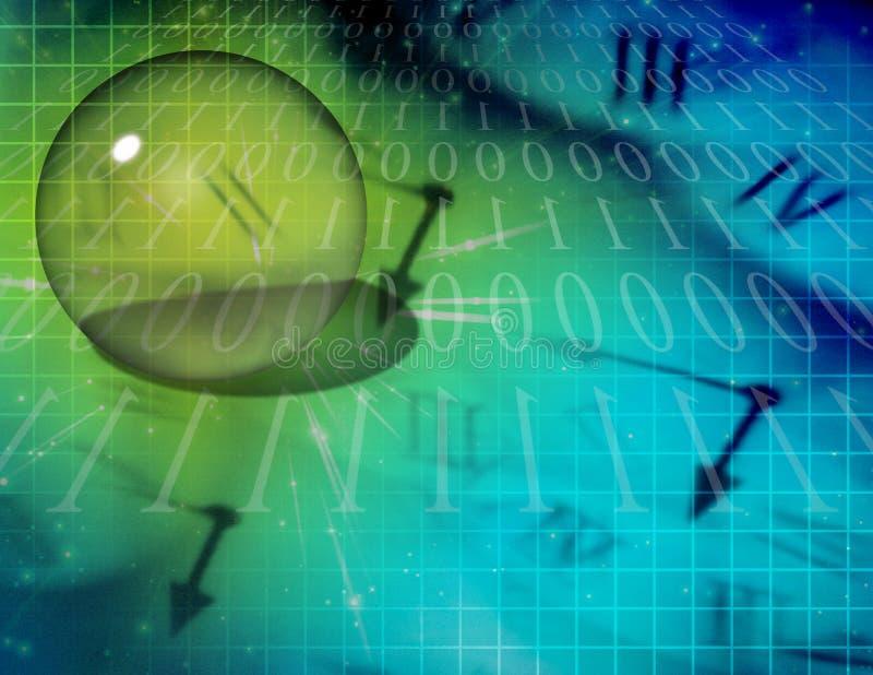 абстрактное бинарное время иллюстрация вектора