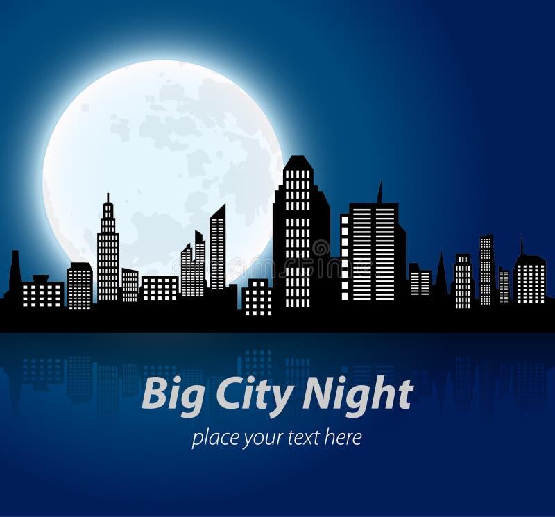 абстрактное большое изображение ночи города стоковое фото rf