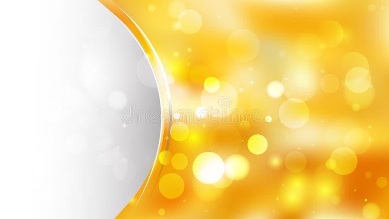 Абстрактное векторное изображение шаблона макета круглой и желтой брошюры бесплатная иллюстрация