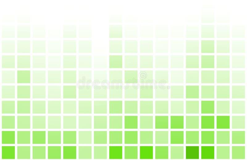 абстрактное видео пиксела зеленого цвета разыгрыша игры предпосылки иллюстрация штока