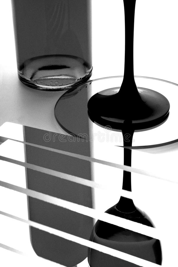 абстрактное вино бутылочного стекла стоковые фотографии rf