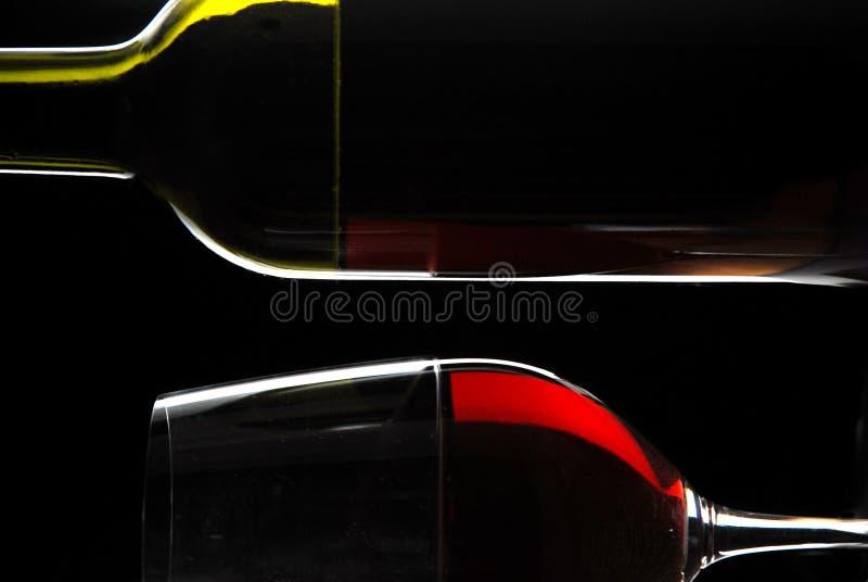 абстрактное вино бутылочного стекла стоковые фото