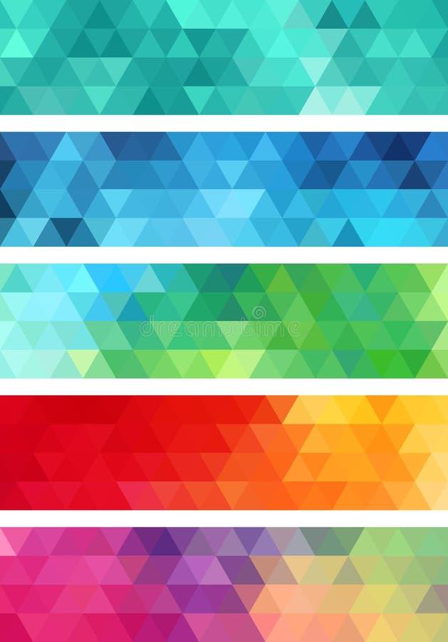 Абстрактное геометрическое знамя, комплект вектора иллюстрация вектора