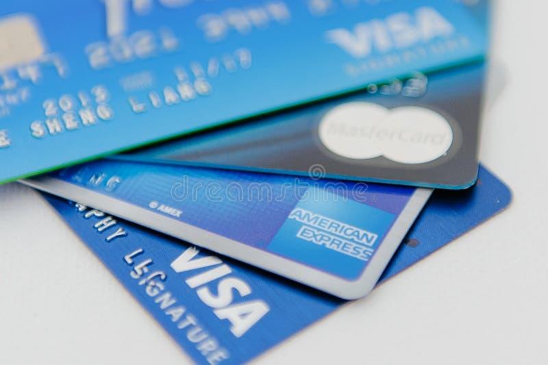 абстрактное голубое фото кредита карточки стоковое фото
