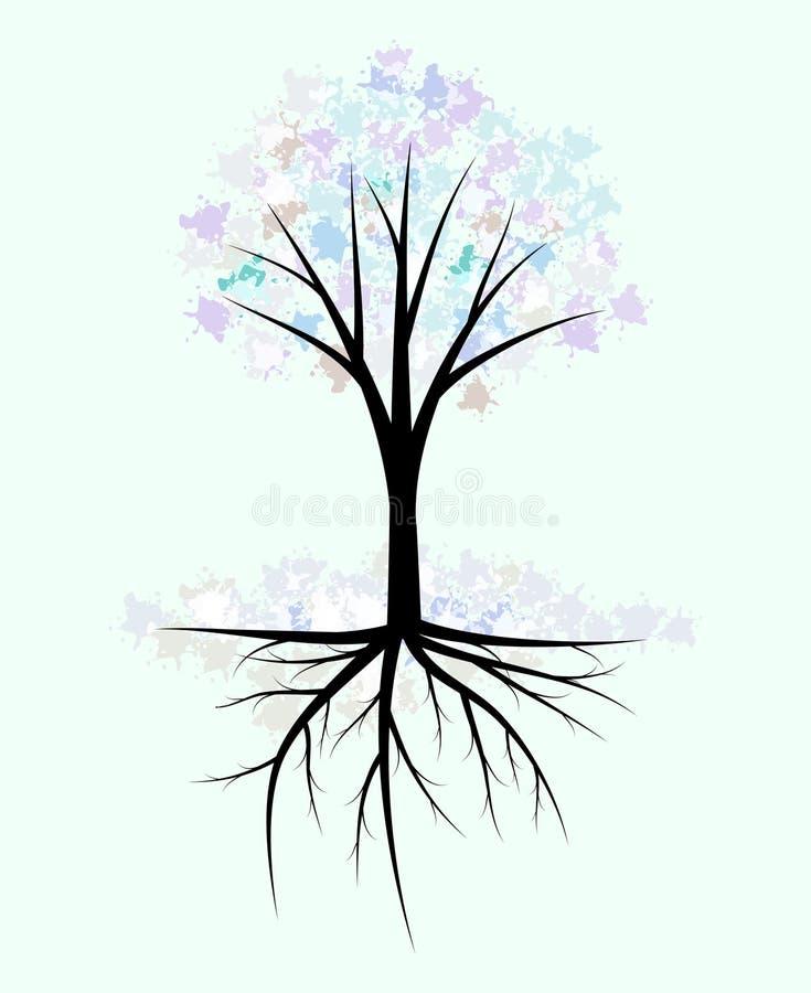 Абстрактное дерево зимы Стоковые Изображения RF