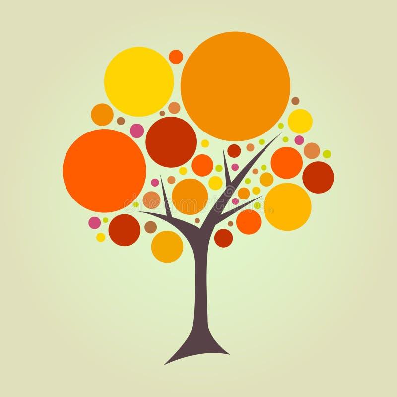 Абстрактное дерево круга иллюстрация штока
