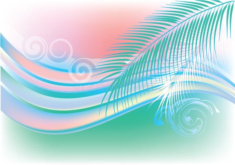 абстрактное лето предпосылки иллюстрация вектора