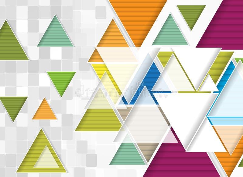 Абстрактное дело технологии треугольника компьютера цепи структуры иллюстрация вектора