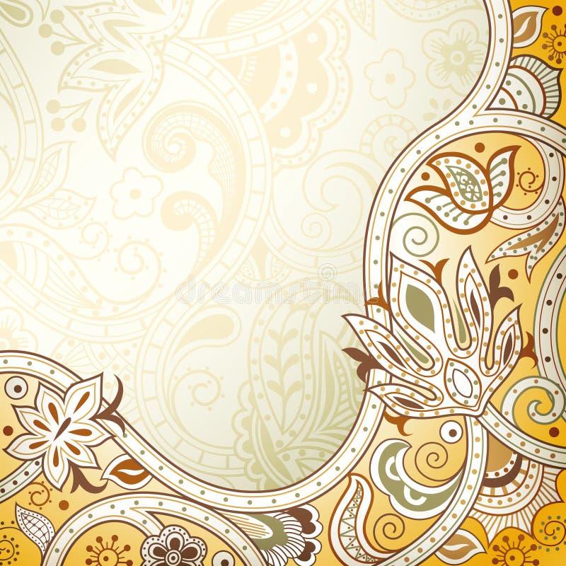 Абстрактное желтое флористическое бесплатная иллюстрация