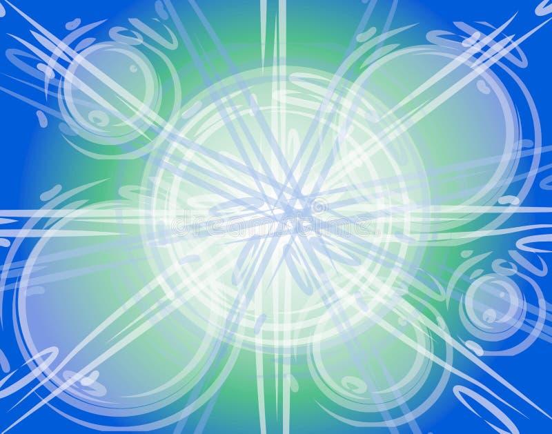 абстрактное зарево кругов пузырей иллюстрация вектора