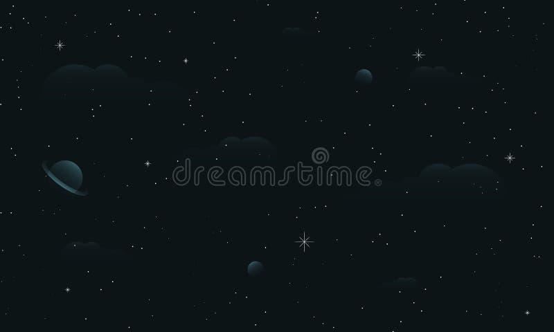 Абстрактное звёздное изображение неба иллюстрация штока