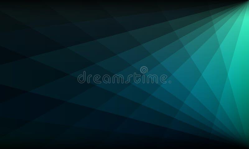 Абстрактное зеленое голубое знамя иллюстрация вектора