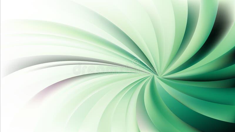 Абстрактное зеленое и белое спиральное искусство вектора предпосылки лучей бесплатная иллюстрация