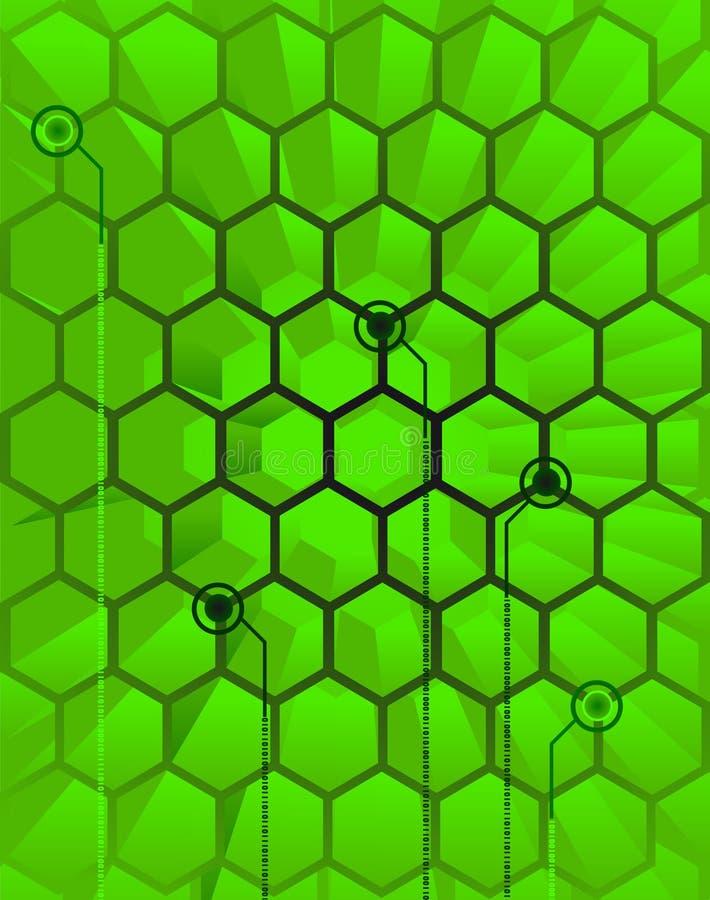 абстрактное зеленое techno крапивницы бесплатная иллюстрация