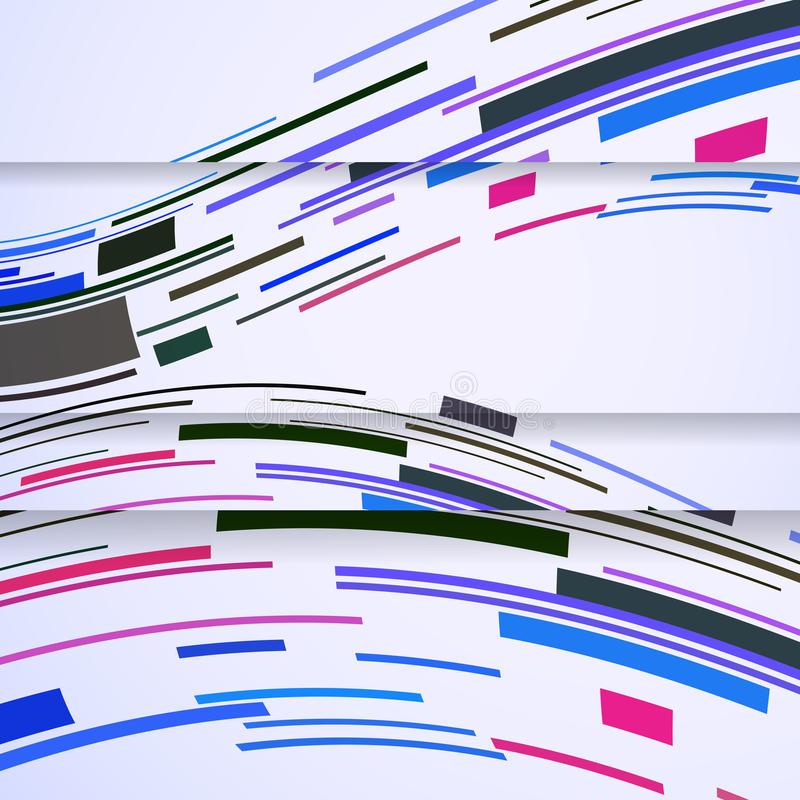 Абстрактное знамя для вашей конструкции. иллюстрация вектора
