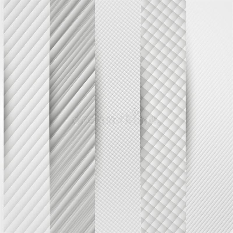 Абстрактное знамя шаблона треугольника иллюстрация вектора