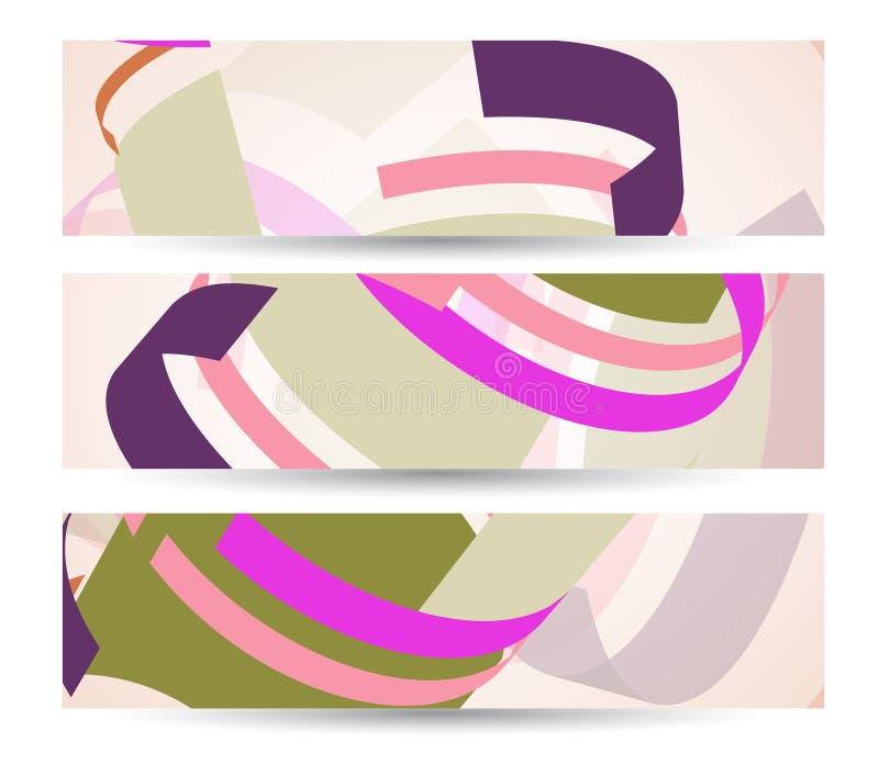 Абстрактное знамя для вашего дизайна, цветастое цифровое бесплатная иллюстрация