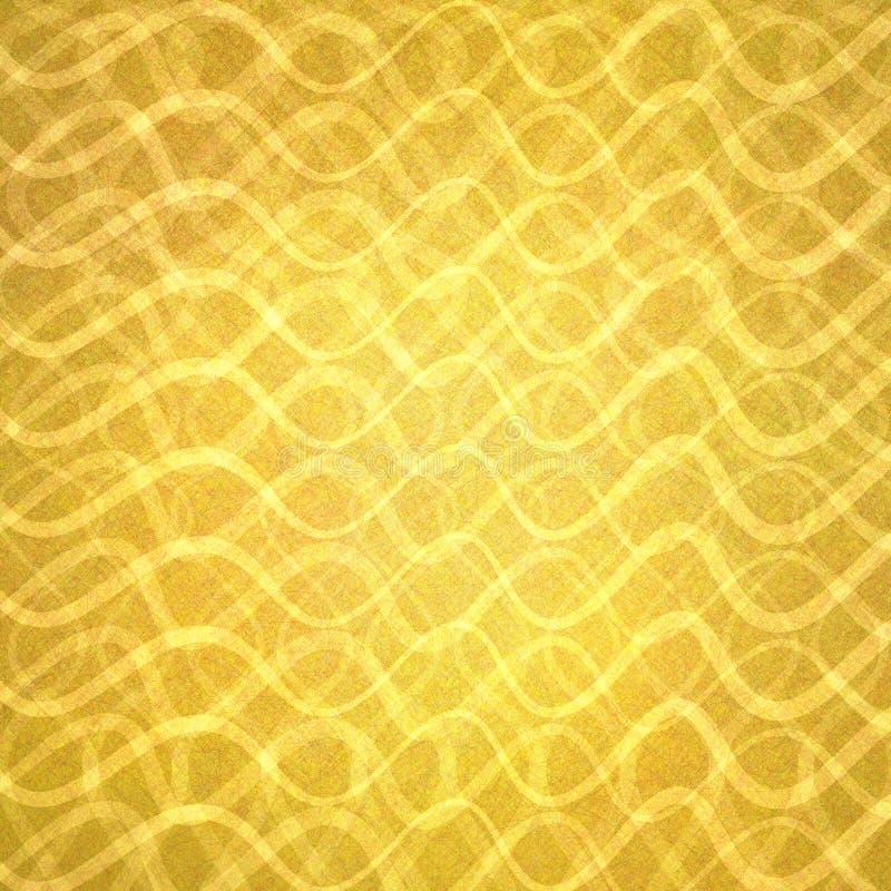 Абстрактное золото с волнистыми слоями линий в абстрактной картине, роскошном дизайне предпосылки золота стоковое фото