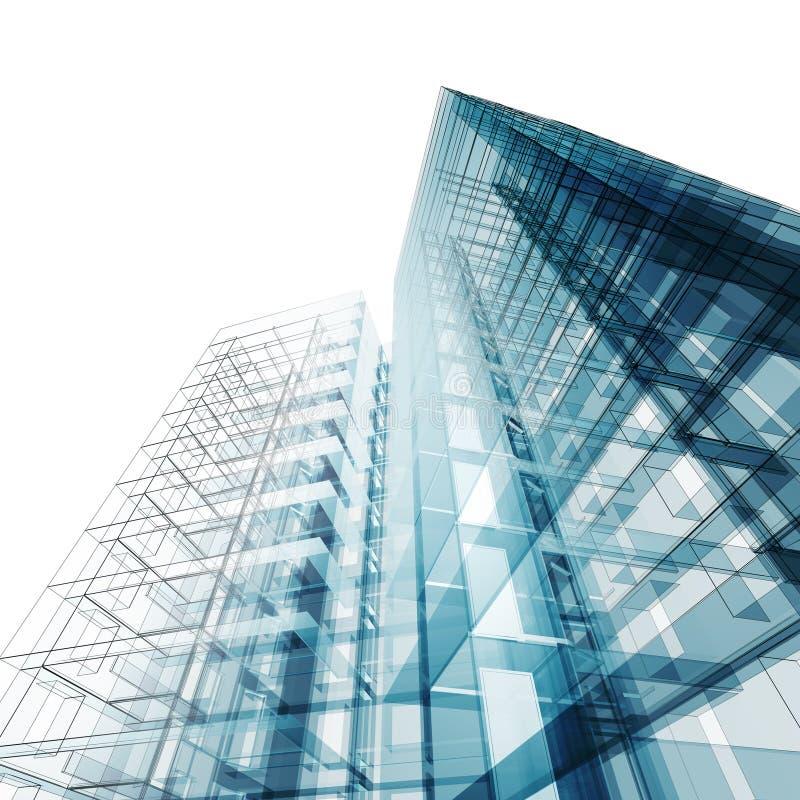 Абстрактное здание иллюстрация штока
