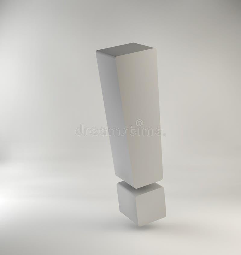 Абстрактное изображение восклицательного знака иллюстрация вектора