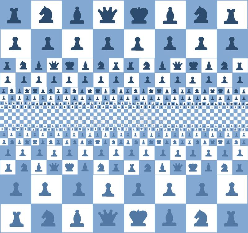 Абстрактное изображение доски с частями, голубого цвета стоковое изображение rf