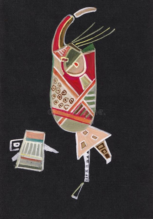 Абстрактное изображение, женщина и капризный кот стоковое изображение