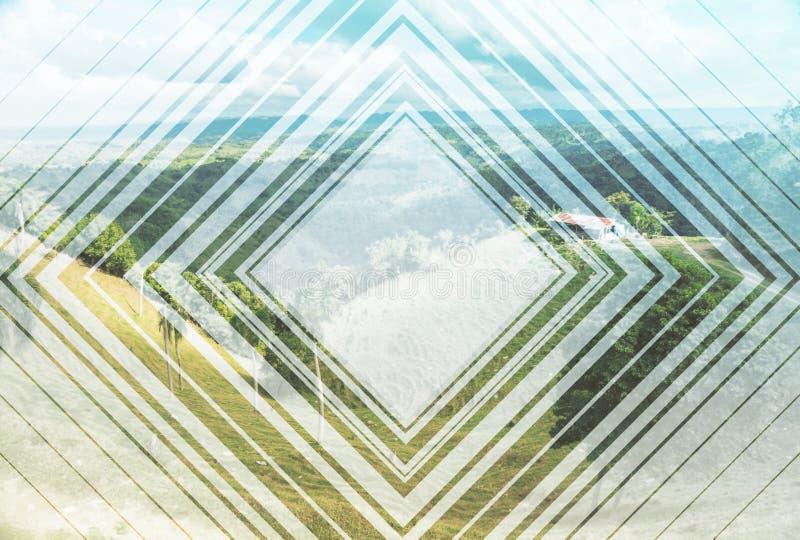Абстрактное изображение итальянского ландшафта стоковая фотография rf